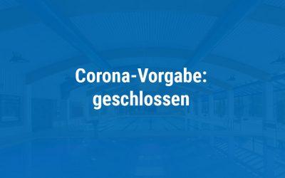 Corona-Vorgabe: Hallenbad schließt ab 2. November